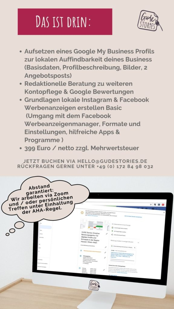 GUDE Stories Onlinemarketing Paket