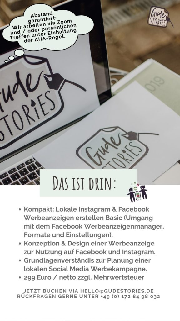 GUDE Stories Lokales Business Social Media Werbenazeigen Paket